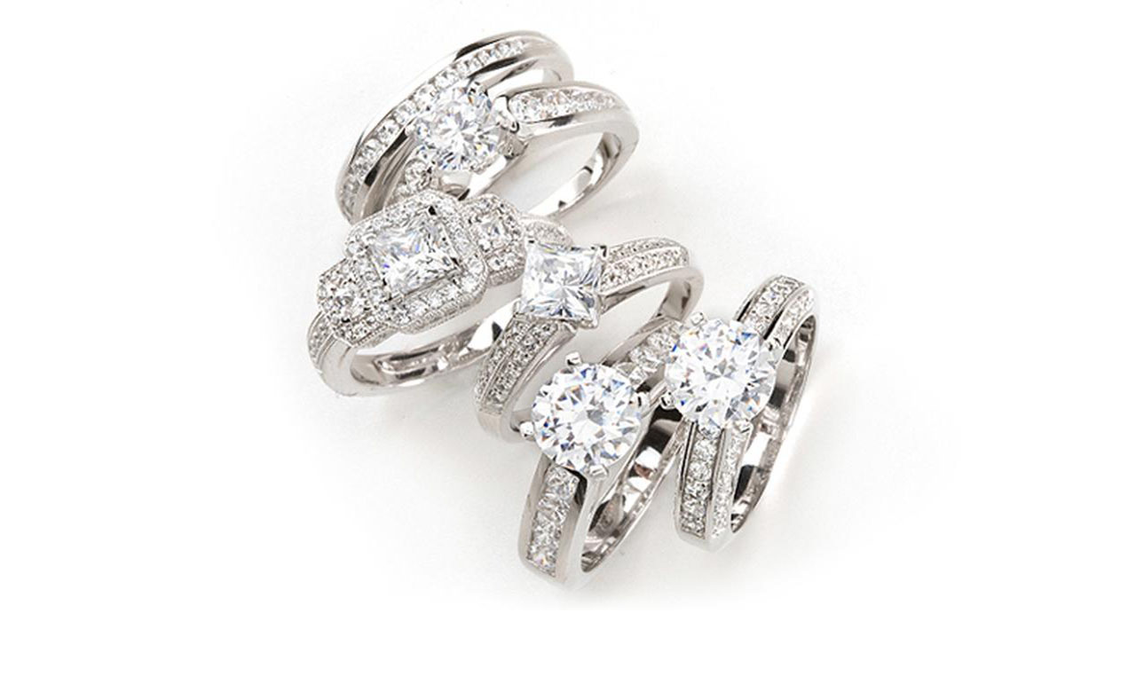 white gold and diamond jewellery